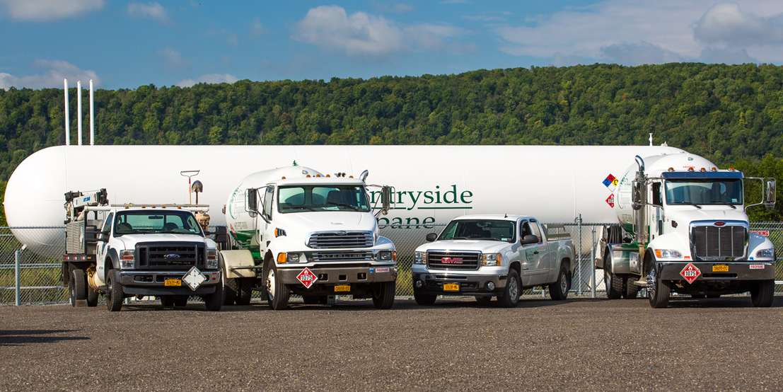 Countryside Propane's Fleet of Trucks Delivering Propane, Heating Oil and Kerosene to NY and PA