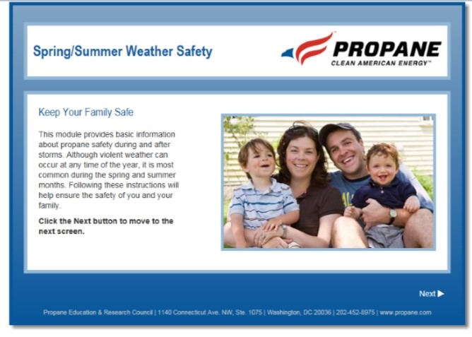 Spring Summer Weather Propane Safety Video Thumbnail