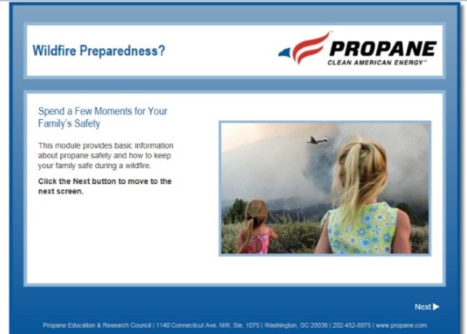 Wildfire Preparedness Propane Safety Video Thumbail