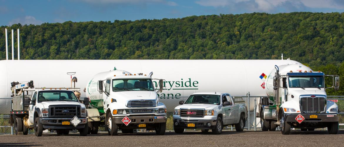 Countryside Propane New York Delivery Trucks